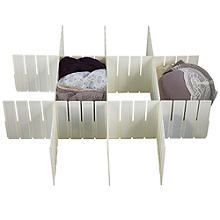 5 Any-Way Slot Drawer Organiser Cut To Fit Plastic Dividers