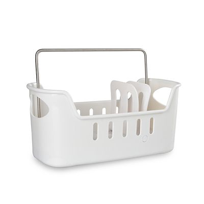 kitchen sink tidy large sink tidy caddy with removable base white lakeland 2938