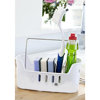 kitchen sink tidy storage large sink tidy caddy with removable base white lakeland 5991