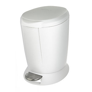 white bathroom bin simplehuman plastic bathroom bin white 6l 15048