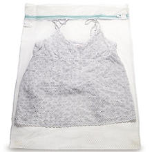 2 White Mesh Net Washing Bags - Large