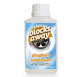 Bathroom Blocks Away Sink Plughole Unblocker 250ml alt image 1