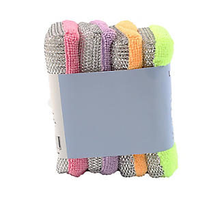 Lakeland 4 Microfibre Dual Action Kitchen Sponges - Brights alt image 3