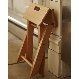 Folding Wooden Step Stool Lakeland
