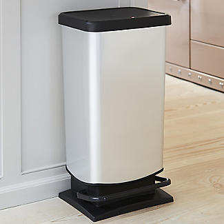 Rotho Kitchen Waste Pedal Bin - Metallic Effect 40L alt image 2