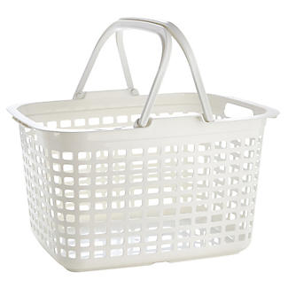 Laundry Tote Standard Plastic Washing Basket 25L
