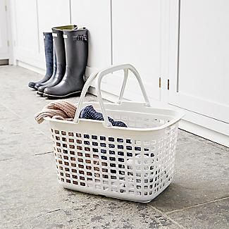 Laundry Tote Standard Plastic Washing Basket 25L alt image 5