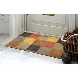 Brown Squares Turtle Mat