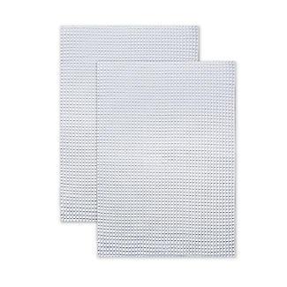 2 Extraweiche Geschirrhandtücher aus Polyester, weiß