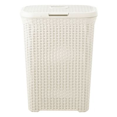 Slim Faux Rattan Laundry Basket 40l Lakeland