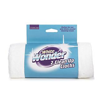 2 White Wonder Clean-Up Cloths