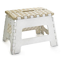 Basket Print Folding Step-Stool