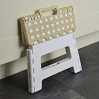 Basket Print Folding Handy Household Step Stool 150kg