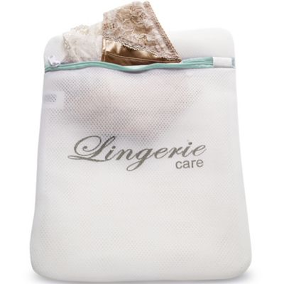 White Mesh Net Washing Bag  Padded For Silks & Lace