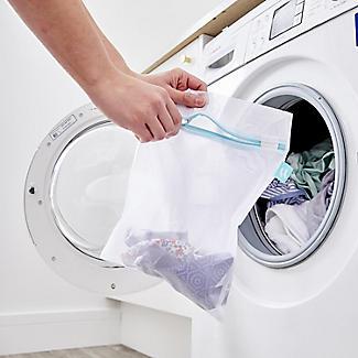 4 White Mesh Net Washing Bags - Various Sizes alt image 3