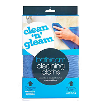 Clean and Gleam Bathroom Cleaning & Polishing Cloth alt image 3