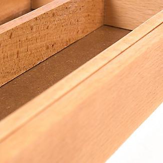 Ausziehbarer Besteckkasten aus Holz alt image 4