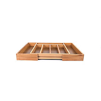 Expanding Drawer Organiser Cutlery Tray 5-7 Hole - Wooden alt image 5