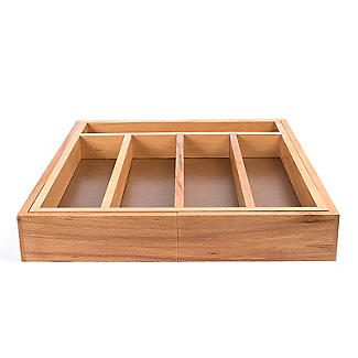 Expanding Drawer Organiser Cutlery Tray 5-7 Hole - Wooden alt image 6