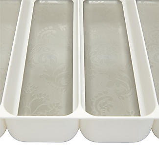 Stay Put Drawer Organiser Cutlery Tray 5 Hole - White alt image 4