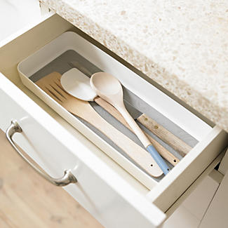 Stay Put Drawer Organiser Individual Utensil Tray - Large White alt image 2
