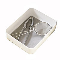Stay Put Drawer Organiser Individual Utensil Tray - Small White