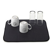 Diamond Dish Drying Mat For Glasses and Cups - Black