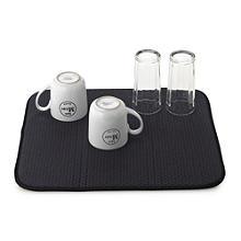Diamond Dish Abtropfmatte für Gläser & Tassen - Schwarz
