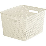 Square Faux Rattan Storage Basket