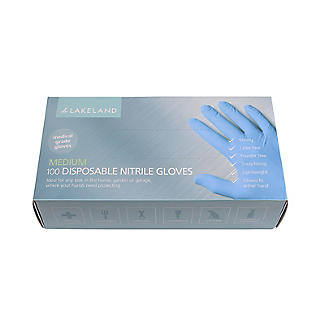 100 Medium Disposable Nitrile Gloves alt image 2