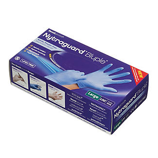 100 Large Disposable Nitrile Gloves  alt image 2