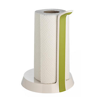 Joseph Joseph Easy Tear Kitchen Roll Holder White and Green alt image 1