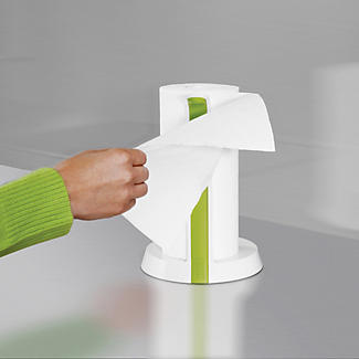 Joseph Joseph Easy Tear Kitchen Roll Holder White and Green alt image 3