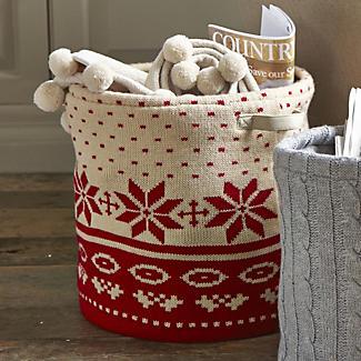 Winter Knit Storage Tote