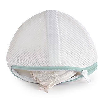 2 White Mesh Net Washing Bags For Bras - To Size D alt image 1