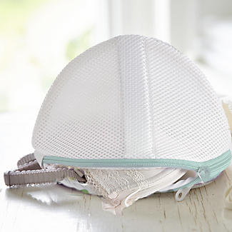 2 White Mesh Net Washing Bags For Bras - To Size D alt image 2