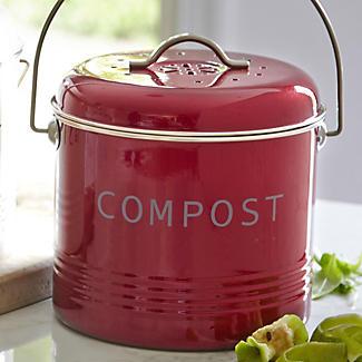Lakeland Food Compost Bin - Red 3.5L