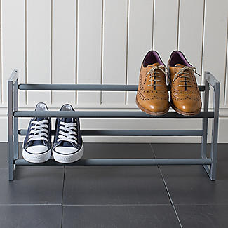 Extending and Stackable Steel Shoe Rack Silver alt image 7