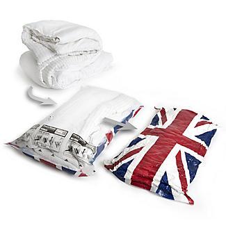 2 Pack-Mate® Union Jack Clothes Vacuum Storage Bags - 70 x 105cm