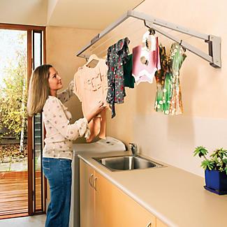 Hills Supa Fold Mini Washing Line - Beige alt image 2