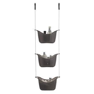 3-Tier Shower Caddy Smoke Grey