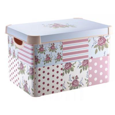 Floral Patchwork Decorative Box Lakeland