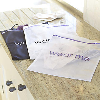 3 Wear Me Wash Me Travel Mesh Net Washing Bags - Various Sizes alt image 2