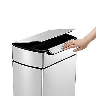 simplehuman Touch Bar Kitchen Waste Bin - Silver 40L alt image 3