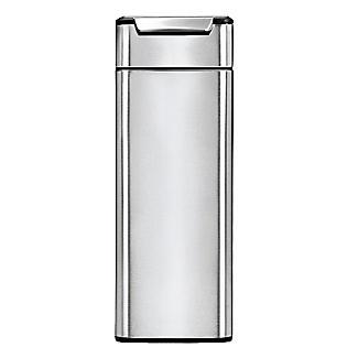 simplehuman Slim Touch Bar Kitchen Waste Bin - Silver 40L alt image 3
