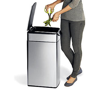 simplehuman Slim Touch Bar Kitchen Waste Bin - Silver 40L alt image 4