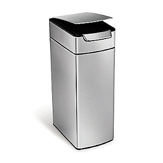 simplehuman Slim Touch Bar Kitchen Waste Bin - Silver 40L alt image 5
