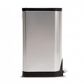 simplehuman Butterfly Lid Kitchen Waste Pedal Bin Silver 30L alt image 2