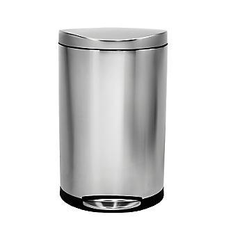 simplehuman Flatback Kitchen Waste Bin - Silver 40L alt image 2