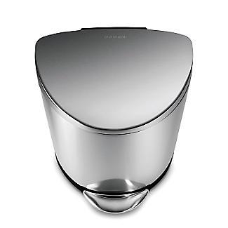 simplehuman Flatback Kitchen Waste Bin - Silver 40L alt image 3